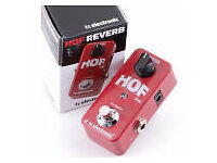 Hall Of Fame Mini Reverb Pedal AS NEW/BOXED(used once at home) £60