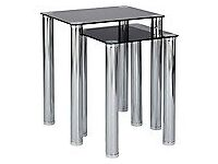 Nest of two glass tables