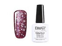 10ml Uv nail gel polish ( Maroon glitter)