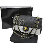 """CHANEL 2.55 10"""" QUILTED DOUBLE FLAP CHAIN SHOULDER BAG PURSE"""