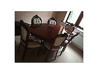 Italian Wood Dining Table & 6 Chairs