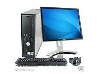 WOW WINDOWS 7 FULL DELL COMPUTER DESKTOP TOWER SET PC 4GB RAM 160GB HDD WIFI BARGAIN