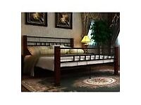 DOUBLE BED FRAME WITH LUXURY MEMORY FOAM