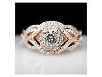 Brand New 2.01ct SI clarity H/I colour certified Diamond set in 9ct yellow gold ring