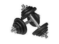 Viavito 20kg Black Cast Iron Dumbbell Training Gym Fitness Weight Set