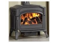 Large wood burning stove (Dovre 700, 11kw). Used, reconditioned/resprayed. Very good condition