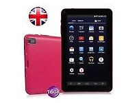 "NEW: - Pink 9"" Pad Android 4.4 Tablet PC, Ebook, 16GB, Quad Core, Dual Camera"