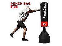 5Ft Free Standing Boxing Punch Bag Kick Heavy Duty MMA Martial Art Training