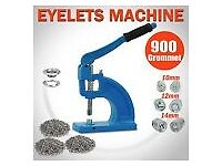 Eyelet Punch Machine 900 Grommet 10 12 14MM 3 Die Press Hole Tool Set Kit Banner