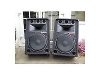 Pair of 600w Professional PA/Disco Speakers