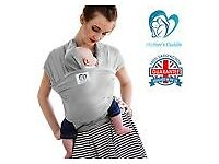 BABY SLING STRETCHY WRAP CARRIER BIRTH TO 3YRS -DESIGNED IN UK