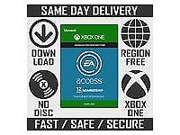x-box live ea access code 12 months subscrirtion