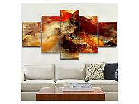 5 panels wall art Cloud Nebula Printed