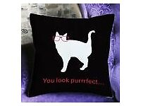 New cat pillow cover , free post or collect