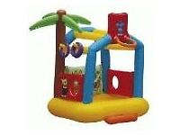 Inflatable Palm Tree Bouncy Castle used once
