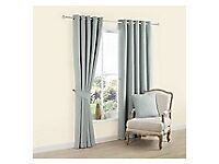 Duck Egg Blue lined eyelet Curtains