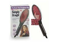 Ceramic brush hair straightener