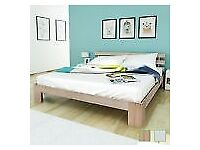 Solid Pinewood Superking Double Bed Frame Natural