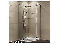 full glass shower enclosure