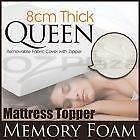 QUEEN 8cm THICK MEMORY FOAM MATRESS TOPPER Finley Berrigan Area Preview