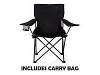 New Folding Foldable Camping Beach fishing Chair Camp Festival Seat with carry case