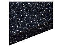 28MM COOKE & LEWIS ASTRAL BLACK SPARKLE GLOSS BATHROOM WORKTOP (L)1.8M (D)365MM