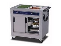 SERVING UNIT WITH CUPBOARDS WITH BAIN MARIE TOP