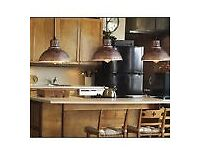 2 X VINTAGE INDUSTRIAL LAMP SHADE PENDANT LIGHTS RETRO LOFT IRON CEILING LAMP
