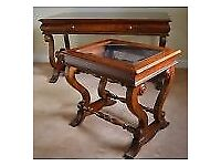Desk set / Stunning Antique/ Desk and a Table Beautiful cherry wood