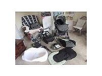 SILVER CROSS 3D TRAVEL SYSTEM WITH FIRST CAR SEAT AND ISOFIX BASE
