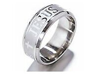 Jesus Stainless Steel Silver Wedding Anniversary Gift Fashion Jewelry Ring SZ 13