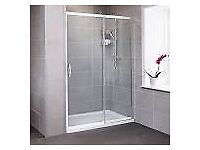 1900 high x 1200 wide Premier Chrome Sliding Shower