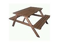 Bargain picnic bench