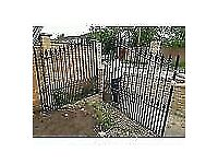 Heavy duty wrought iron driveway gates