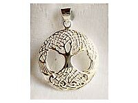 925 Sterling Silver Celtic Tree of Life Lightweight Pendant