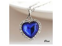 Crystal Full Rhinestones Jewelry Titanic Heart of Ocean Necklaces