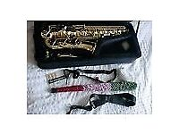 SONATA STUDENT Eb ALTO SAX - WITH ACCESSORIES - JUST £240.00- EXCELLENT VALUE