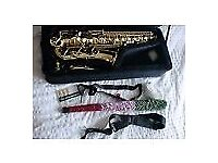 SONATA STUDENT Eb ALTO SAX - WITH ACCESSORIES - JUST £225.00- EXCELLENT VALUE