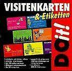 Do it. Visitenkarten und Etiketten. CD- ROM für... | Software | Zustand sehr gut
