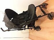 Easy walker Mini Buggy Midnight Black light pushair multi position from birth