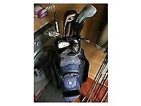 John Letters golf set, bag and trolley