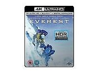 EVEREST DVD 4k Ultra HD Blu-ray & Digital Download for brighter, deeper more lifelike colours, NEW