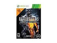 Battlefield 3 the limited edition version on XBOX 360