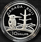 "2011 RCM 10$ Fine Silver ""The Boreal Forest"""
