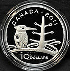 """2011 RCM 10$ Fine Silver """"The Boreal Forest"""""""