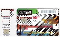 10 X Giffgaff UK simcard with £5 credit for 10p