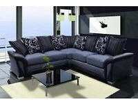 ****Brand new luxury chenille fabric sofas, available as a 3+2 set or universal corner sofa