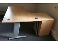 Used Verco Beech Corner Desk 1600 x 1200mm