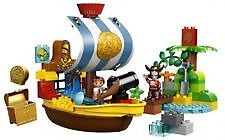 LEGO DUPLO Jakes Pirate Ship Bucky 10514(Discontinued) Great for Jake's Fans