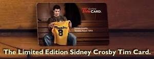SYDNEY CROSBY LIMITED TIM HORTON'S RELOADABLE CARD